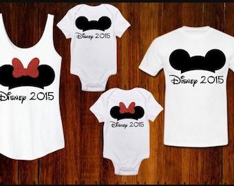 4 Set Disney Family Vacation T-Shirts, Custom Disney Apparel