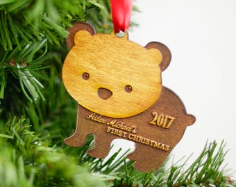 Baby Name Ornament, Personalized Baby's First Christmas Ornament, Family Ornament, Gift for New Moms, Babyshower Gift