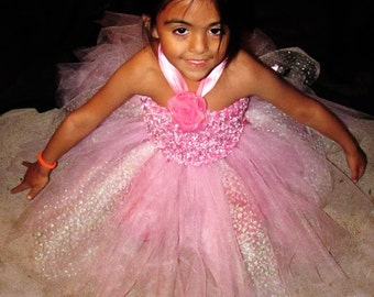 Baby's Breath Pink Sparkle Skirt