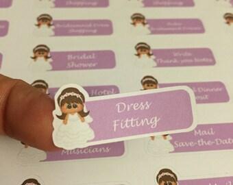Wedding planner stickers (brunette)
