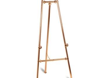 Ornate Brass Finish Floor Standing Easel