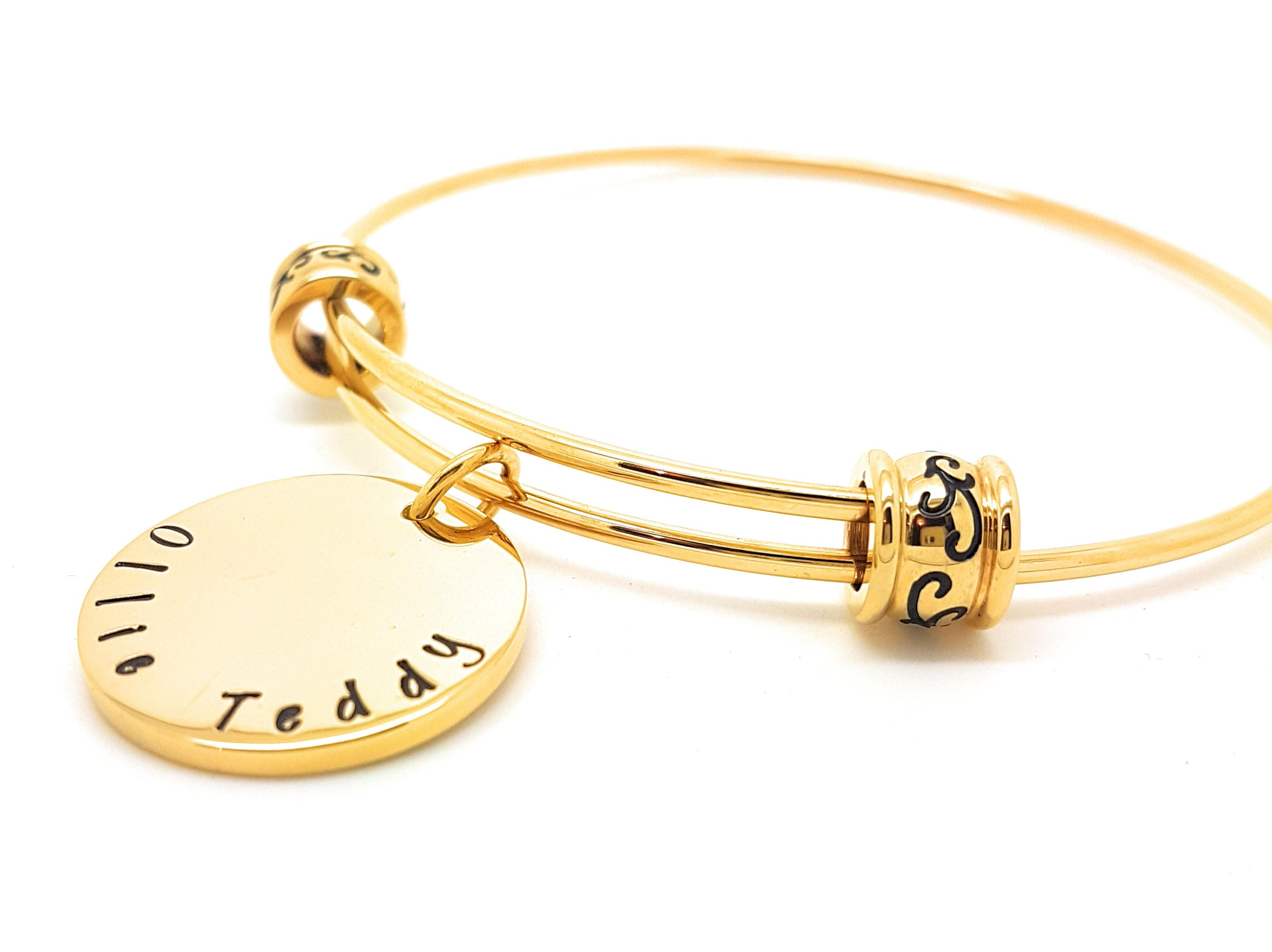 bangle ladies bangles heart charm tennis round cut bracelets pin simulated cz gold bracelet tone design link