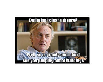 Evolution is Just a Theory? Refrigerator Magnet EF-MAG-00030