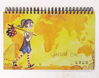 Art diary, visual diary, blank notebook, 80 pages