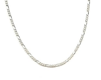 22 inch Sterling Silver 2mm Figaro Chain Necklace