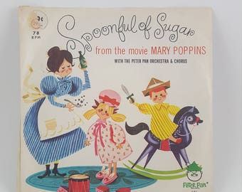 Spoonful of Sugar from Mary Poppins Movie Children Vintage Vinyl & Book-Reduced Price!