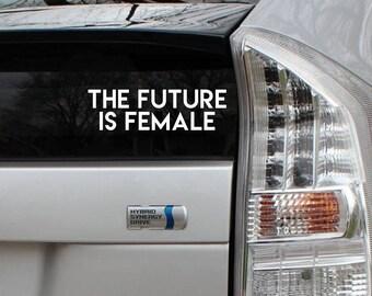The Future is Female Rub-On Vinyl Die Cut Decal Bumper Sticker Car Laptop Bike
