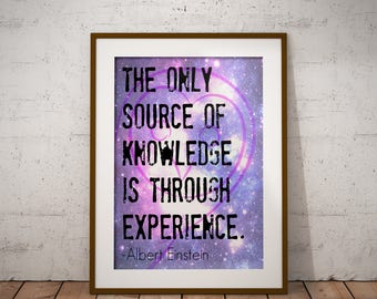 Albert Einstein Quote Movtivational Success Quote Print- Universe Galaxy Printable Art Wall Art