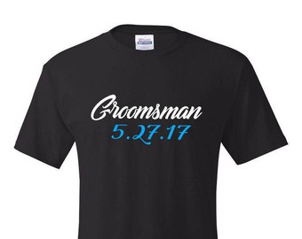 Bachelor Party Shirts,Groomsman T-Shirt, Groomsmen Tshirt, Groomsmen Gift, Groomsman Gift, Groom Tshirt, Wedding Party Shirts, Groom T shirt