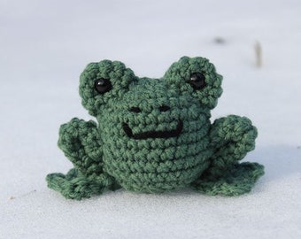 Harold the Frog- Crocheted Amigurumi Frog- Stuffed Animal Toy