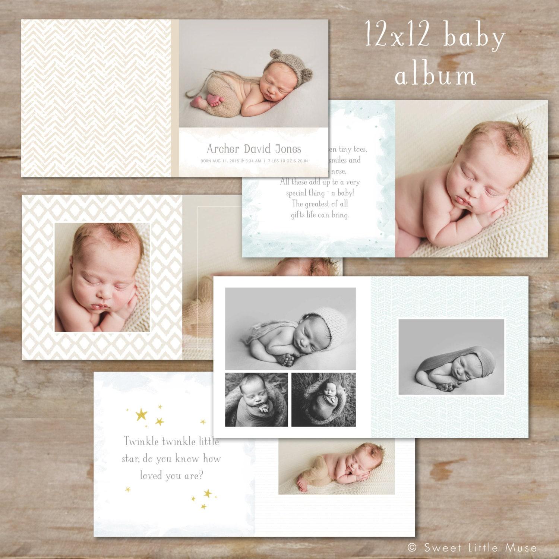 Baby-Album-Vorlage für Fotografen Baby Boy Foto Buch-Vorlage
