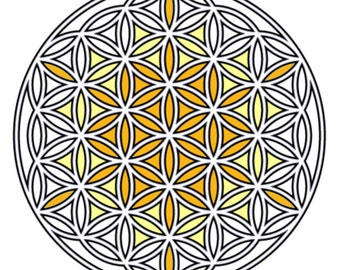Cherubim Crystal Grid Template, 8.5x8.5 Flower of Life Grid Board, High Vibrational Crystal Grid Board, Prayers with Angels, Flower of Life