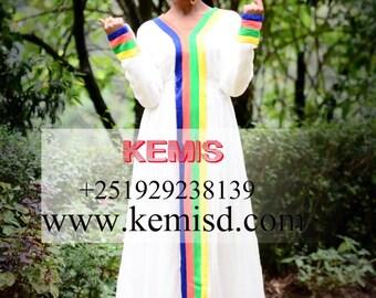 Ethiopian traditional dress Ethiopian dresses Habesha dress Ethiopian clothing  modern Ethiopian dress Kemisd