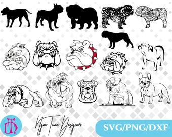 Bulldog svg,png,dxf/Bulldog clipart for Design,Print,Silhouette,Cricut and any more