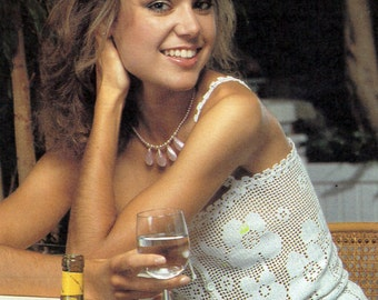 Pattern Only: Vintage Filet Crochet Tank Top Pattern - 1988 - PDF Download