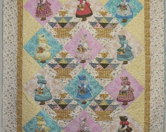 Flower Basket Sunbonnet Sue Quilt Pattern