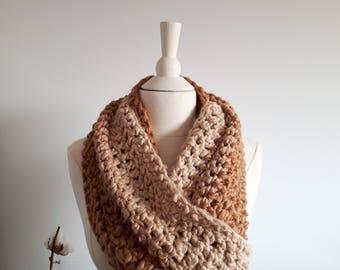 Extra long scarf. Organic 100% cotton yarn. Vegetable dye. Handmade by Mae