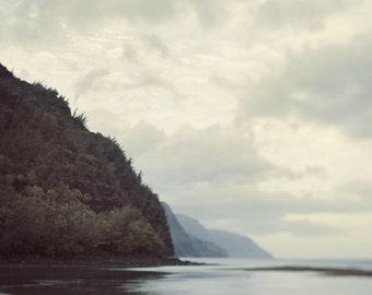 "Photograph of Kee Beach in Kauai, Hawaii Art Print, Landscape Photography, Na Pali Coast, Nature, Ocean Art ""The Last Beach"""