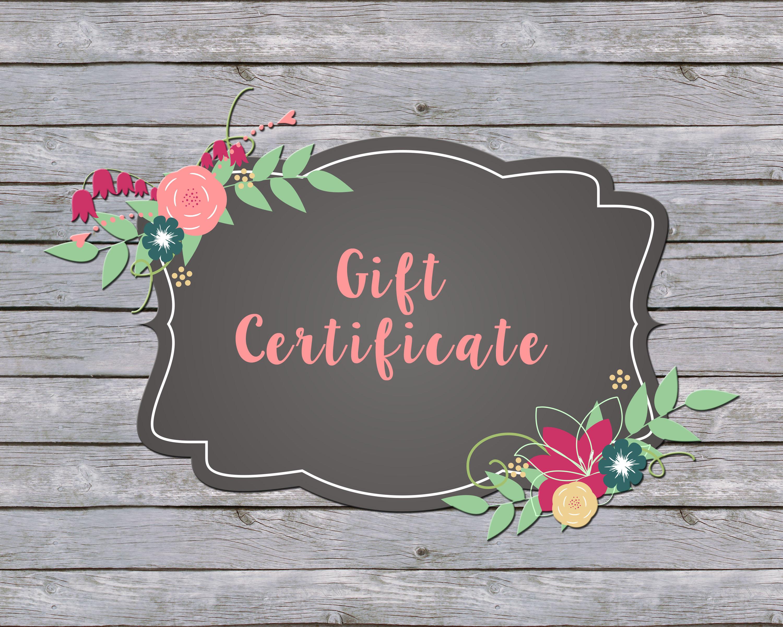 LipSense/SeneGence Gift Certificate/Gift Card CUSTOMIZED To