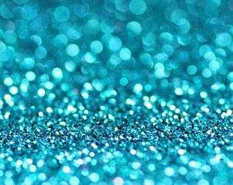 TURQUOISE BIO GLITTER - Biodegradable Glitter- Festival Bio Glitter - Eco Friendly Glitter - Mermaid Glitter- Cosmetic Grade - 200 microns