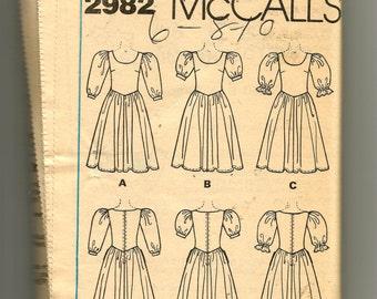 McCall's Misses' Dress Pattern 2982