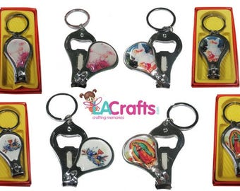 Solid Metal Keychain Favors with Gift Box (12) (Various Designs) - for favors and gifting