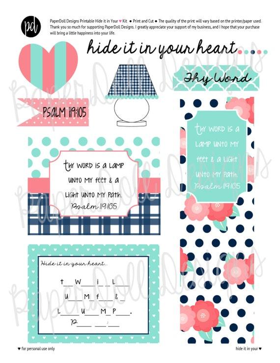 DESCARGAR INSTANT, Salmo 119:105 imprimible, esconde en su corazón ...