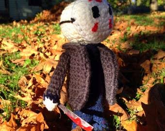Jason Voorhees Friday the 13th Amigurumi