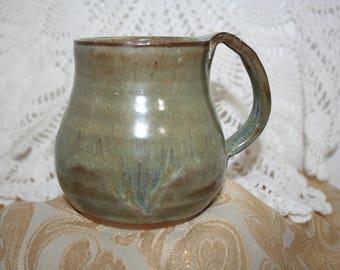 Green Pottery Mug