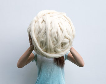 Giant Merino wool Yarn Roving Super Bulky Chunky giant knitting huge giant roving wool knitting yarn huge knitting