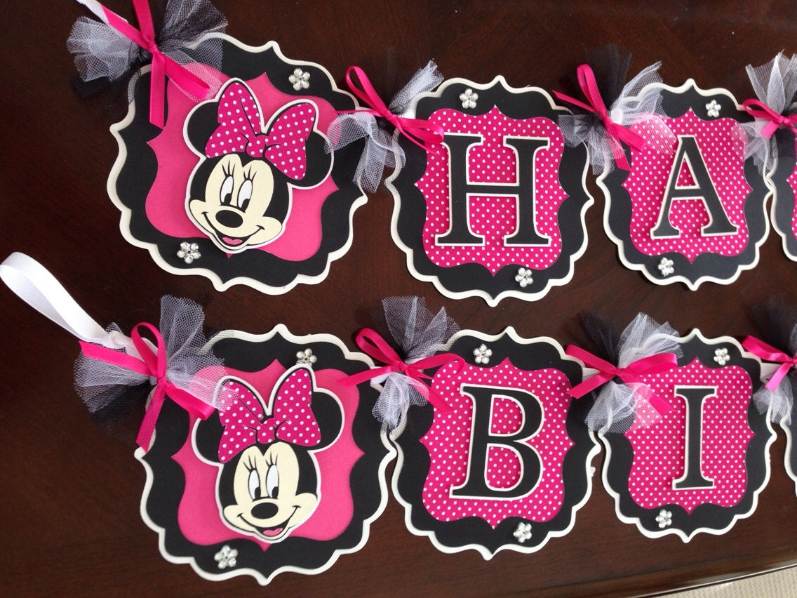 Minnie Mouse Party Decorations Hot PinkBlack Minnie Mouse