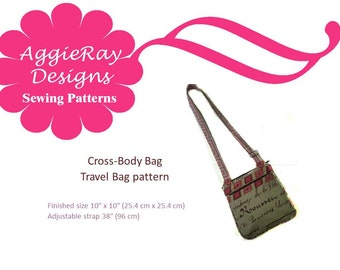 INSTANT DOWNLOAD PDF Sewing Pattern Cross-Body Bag-- Create and Sell Product