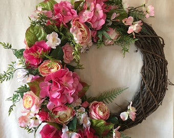 Spring Wreaths - Spring Wreaths for Front Door - Summer Wreaths - Spring Door Wreaths - Summer Door Wreath - Spring Door Decor - Door Wreath