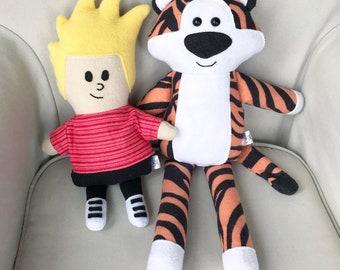 Calvin and Hobbes inspired Dolls