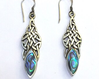 Sterling Silver Celtic Earrings Celtic Knot Earrings Dangle Earrings Vintage Silver earrings Sterling Silver jewellery Jewelry