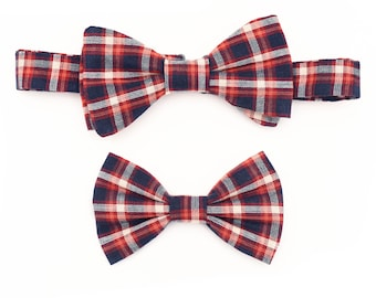 The Langham Bow Tie Set —Dog Bowtie, Brooklyn Bowtied, Blue Plaid, Ring Bearer, Matching Dog and Owner, Human, Wedding, Dog of Honor