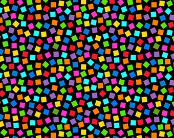 PROJECT LINUS - Confetti Toss in Black - Peanuts Charlie Brown Cotton Quilt Fabric - Quilting Treasures Fabrics - 22328-J (W4019)