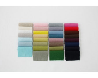 "Linen Cotton Fabrics by the yard Sewing Supplies Width 55""_ Solid 31 colors _CH981561"