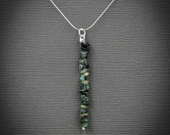 Raw Emerald Pendant Necklace Emerald Necklace Healing Crystals May Birthstone Heart Chakra May Birthstone Raw Emerald Jewelry Taurus