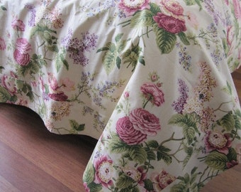 Oversized Super KING Duvet Cover QUEEN Pink Rose Floral Shabby Chic Bedding