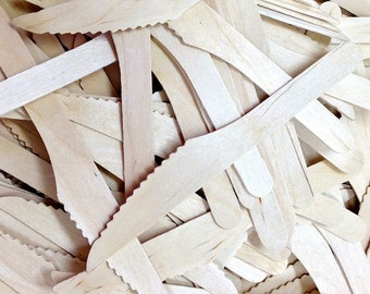 100 Wood knives - Wooden Knife - Tableware Party Decor Supplies