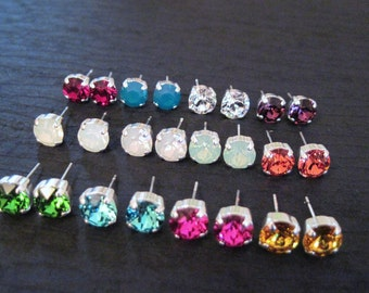 Custom Swarovski Crystal Stud Earrings/ Crystal Studs /Bridesmaid Jewelry/ Wedding Jewelry/Swarovski Crystal Earrings