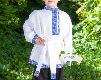 Tradition russian shirt Kosovorotka, Russian shirt for boy, Slavic shirt, Russian costume, Cotton shirt, Cossack shirt