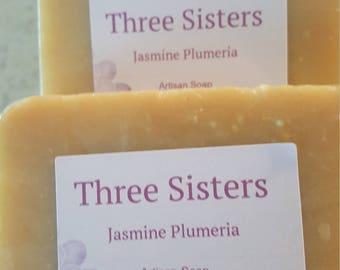 Jasmine Plumeria hand made soap