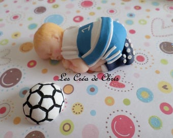 baby outfit boy football fimo.