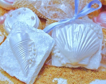 Seashell Chocolate Covered Graham Crackers ~ Beach Wedding Favors Candy ~ Bridal Shower Favors ~ Luau Party Favors ~ Custom Cookies