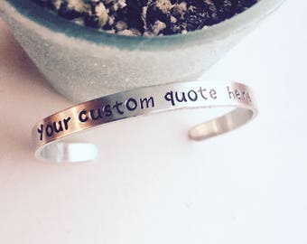 Custom Bracelet, Your Quote Here, Your Custom Manta, Message Bracelet, Favorite Quote Bracelet, Personalized Bracelet, Gifts For Her