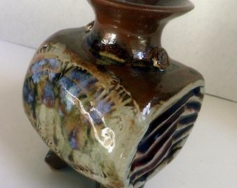 handmade Stoneware Vase / Chunky pot, art pottery