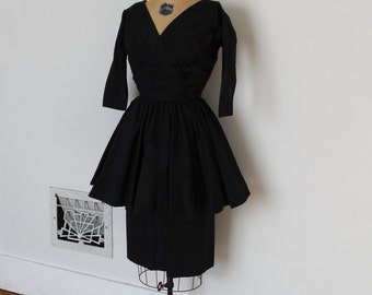 ON SALE - Vintage 50s Dress - 1950s Party Dress - The Victoria