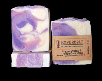Everything I Know Is a Lilac - A Dramatic Spring Soap